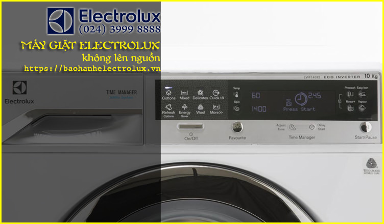 máy giặt electrolux bị mất nguồn