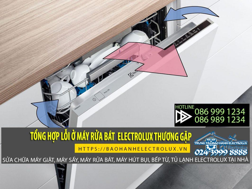 Lỗi máy rửa bát Electrolux vẫn thường hay gặp