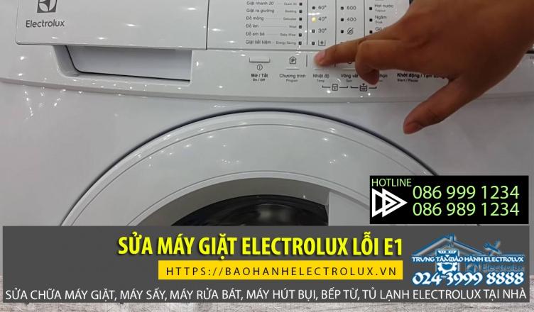 Máy giặt Electrolux lỗi E1 do nhiều nguyên nhân khác nhau