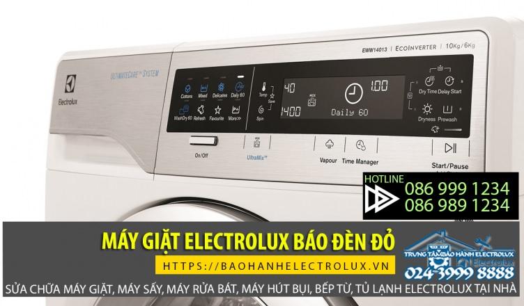 Máy giặt Electrolux báo đèn đỏ