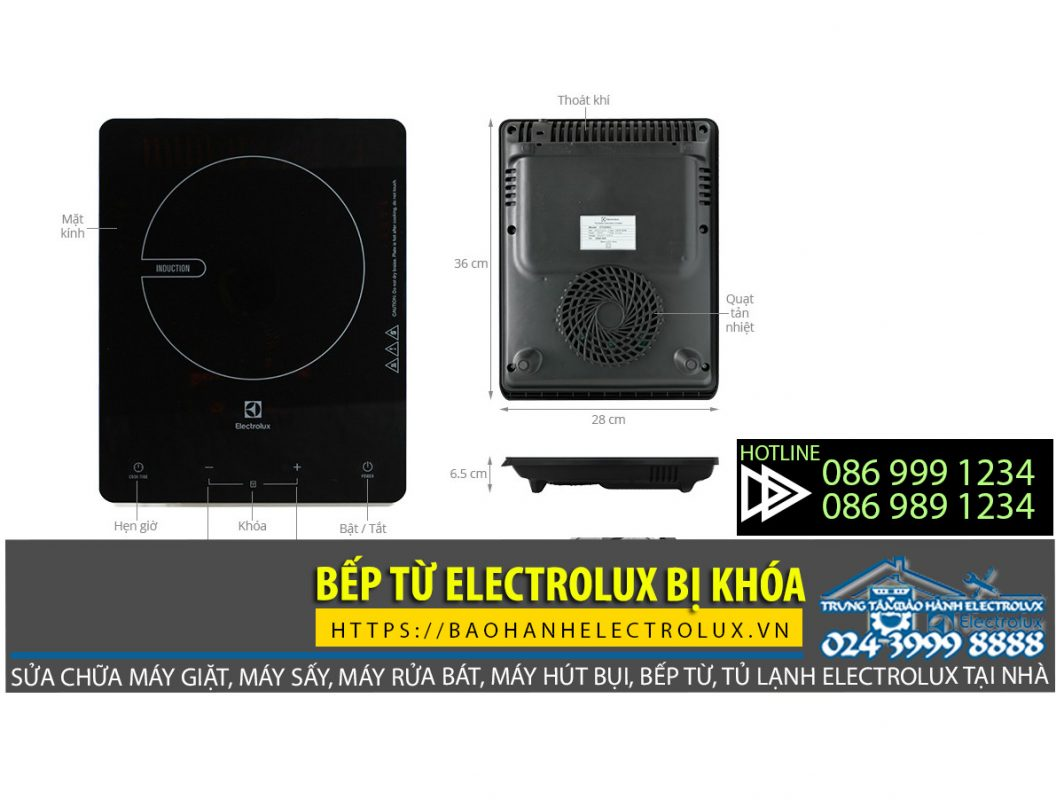 Bếp từ Electrolux bị khóa, cách mở bếp từ Electrolux bị khóa