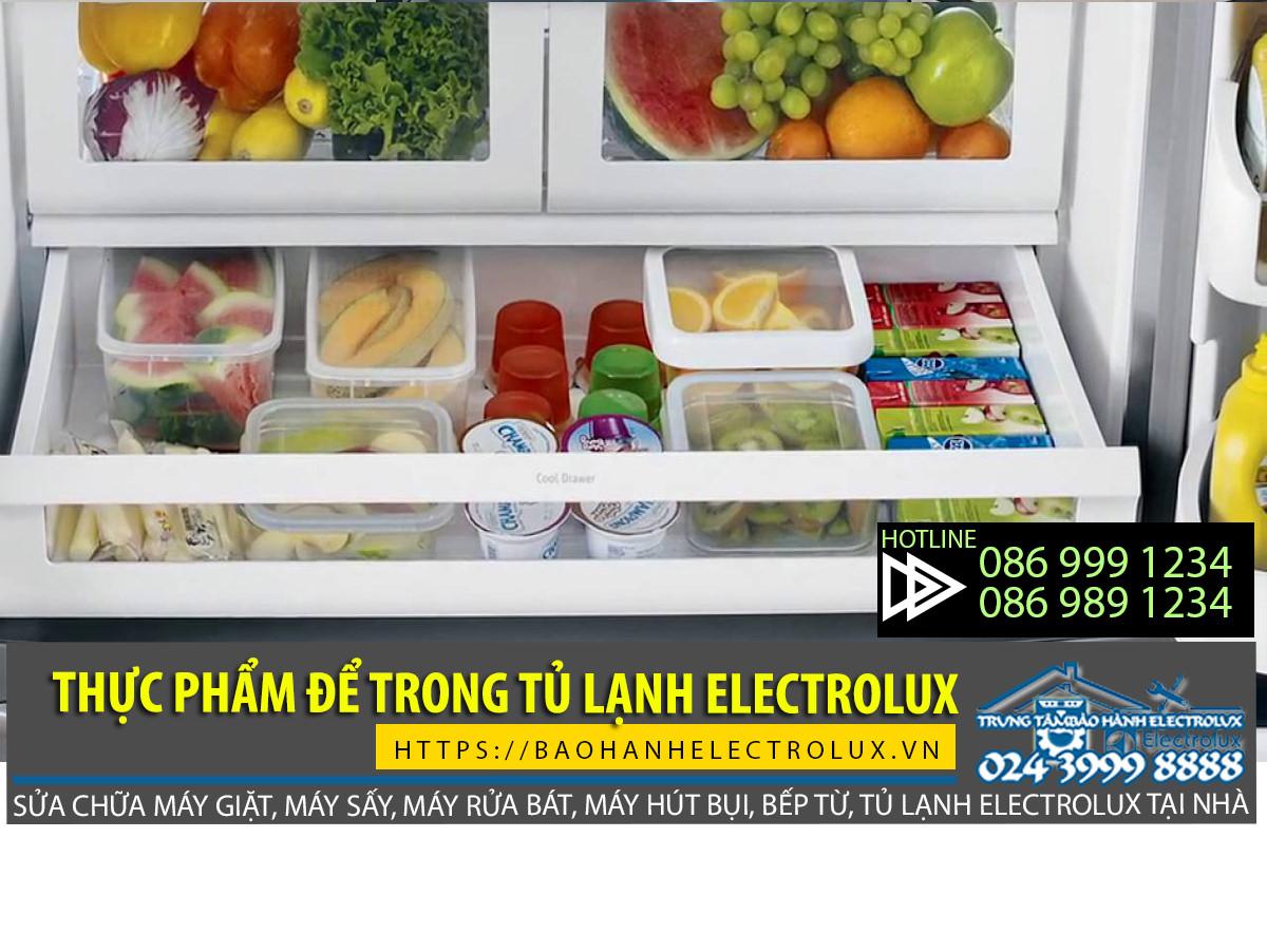 Những thực phẩm để trong tủ lạnh Electrolux rất nhanh dễ hỏng