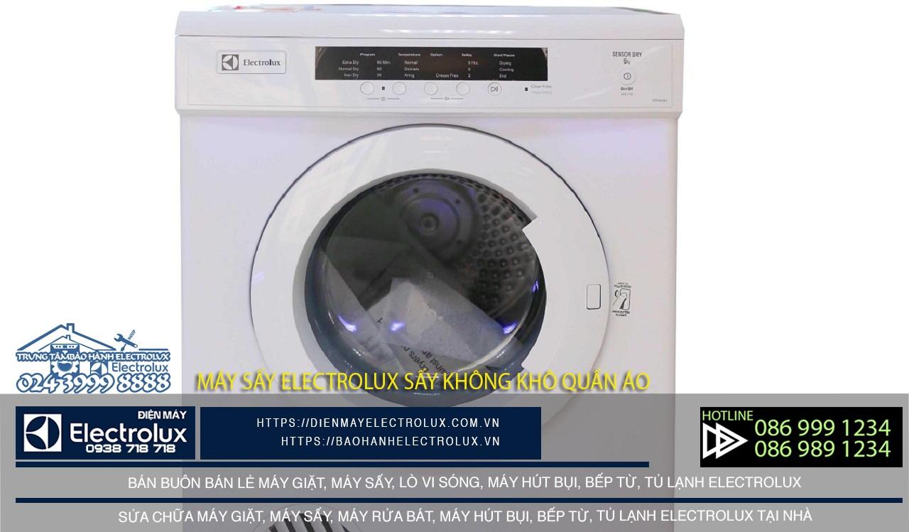 Máy sấy Electrolux sấy không khô quần áo có thể dây mayso bị chết