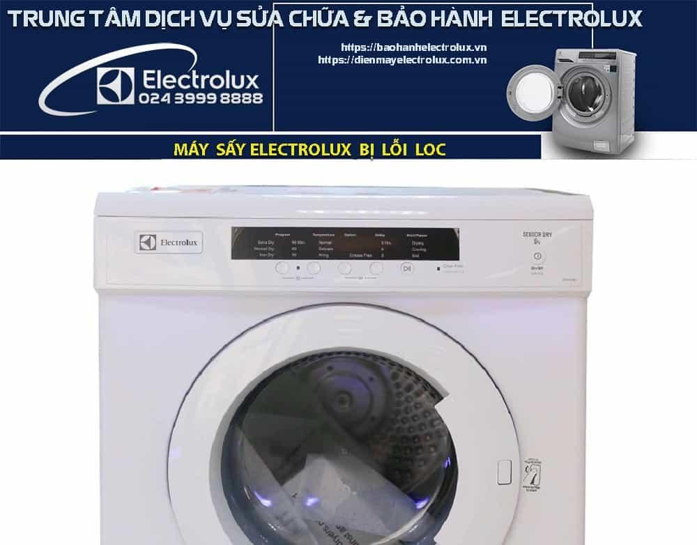 Máy sấy Electrolux báo lỗi LOC
